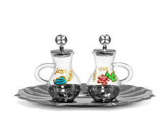 Hand-Painted Cruet Set